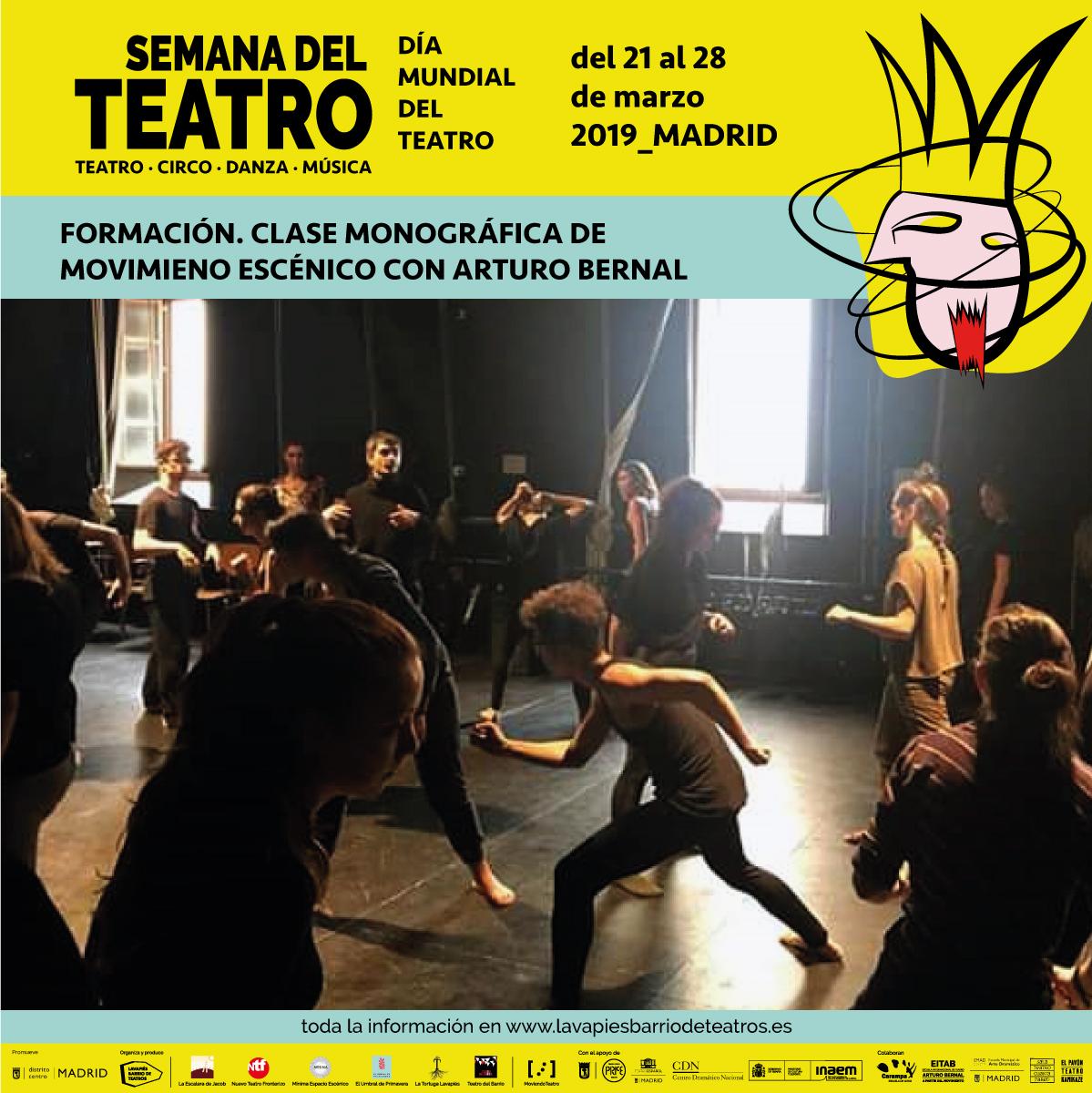 Fitab Calendario.Clase Monografica De Movimiento Escenico Con Arturo Bernal